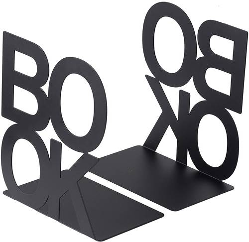 Coppia fermalibri metallo Book nero
