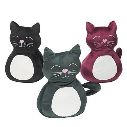 Fermaporta gatto velluto colorato