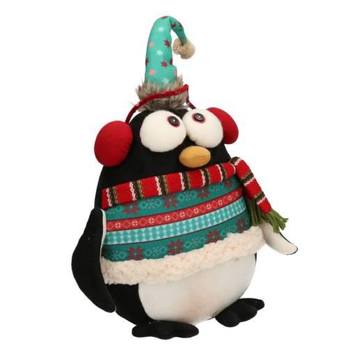 Fermaporta pinguino natalizio tessuto 40h