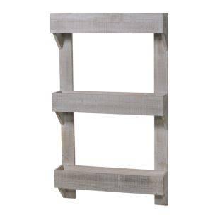 Fioriera legno bianco 3 piani da parete