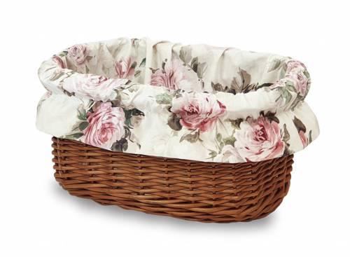 Fodera cesto bici con elastico tessuto rose