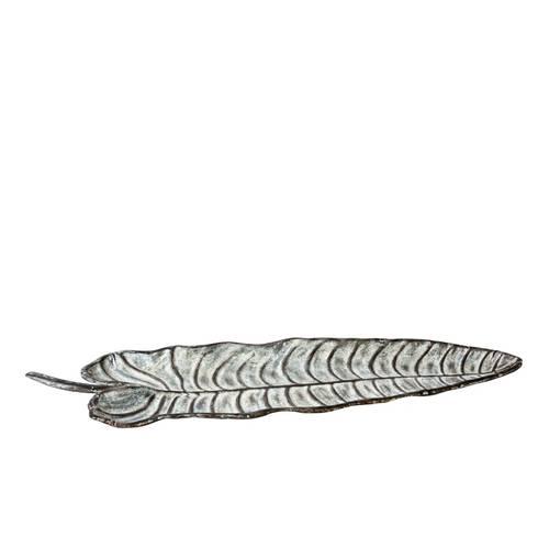 Foglia a vassoio in metallo decorativa