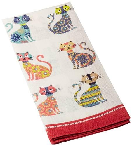Asciugapiatti - tea towel cotone gatti stlizzati