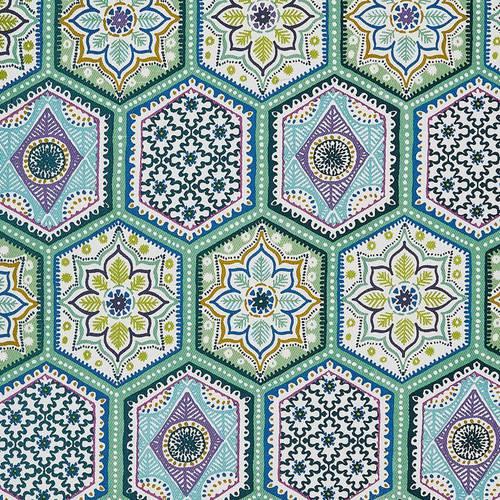 Grembiule cotone pisatrelle colorate Lison tiles Ulster Weavers