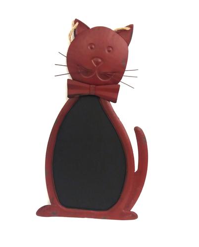 Lavagna ferro rosso sagoma gatto