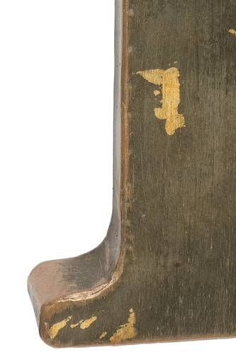 Lettera metallo D bronzo
