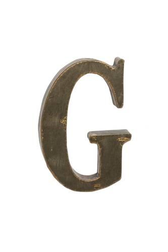 Lettera metallo G bronzo