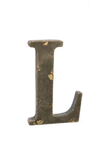 Lettera metallo L bronzo