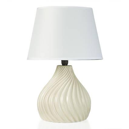 Lampada ceramica avorio torciglione 40h