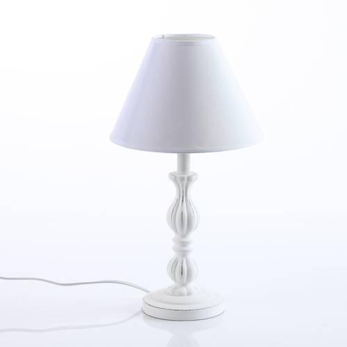 Lampada tavolo legno bianco impero 41h