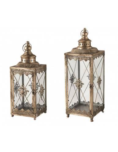 Lanterna metallo dorato antique rosone