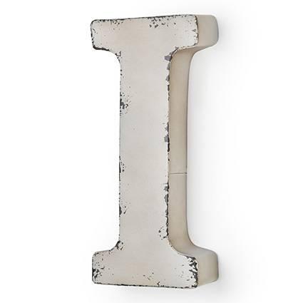 Lettera metallo I bianca