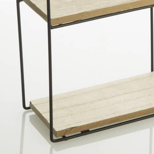 Mensola legno e ferro 4 piani sfalsati