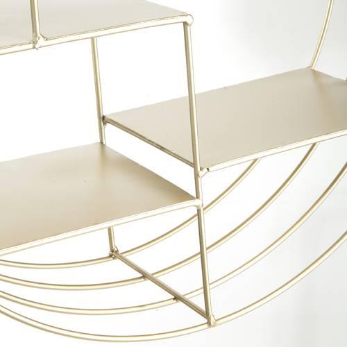 Mensola metallo oro tonda