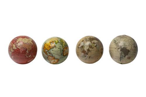 Mini mappamondo antico globo colorato 10h