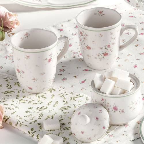 Zuccheriera fiori Nonna Rosa porcellana