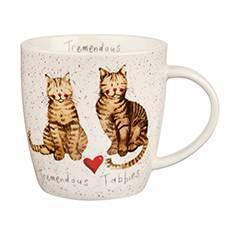 Mug tazza gatti tigrati Tremendous tabbies porcellana