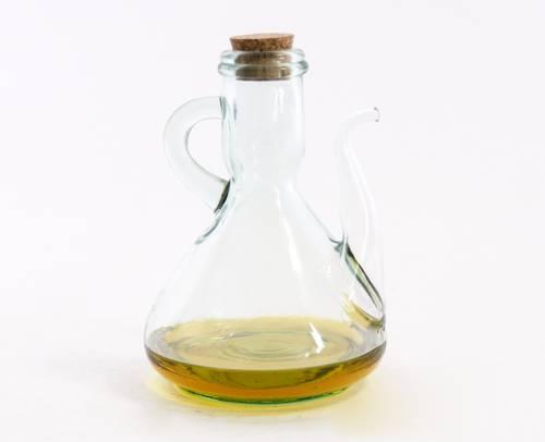 Oliera vetro verde con tappo sughero 500ml