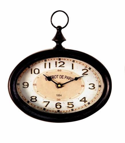 Orologio cipolla Bistrot ferro nero da parete 20h