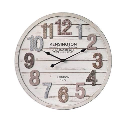 Orologio legno bianco Kensington cm70