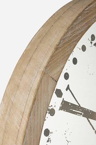 Orologio legno con vetro decorato da parete cm60