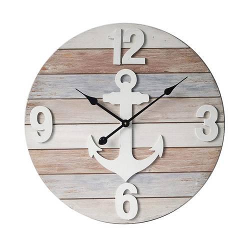 Orologio legno marinaro ancora cm 60