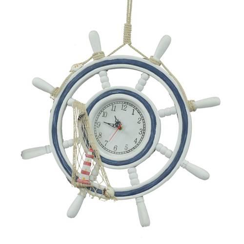 Orologio mare timone azzurro-bianco