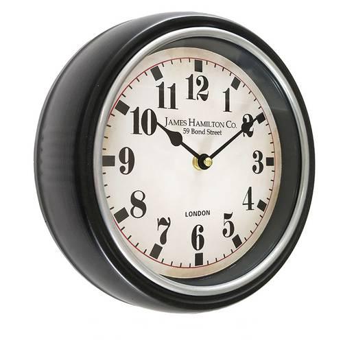 Orologio metallo nero London cm 25