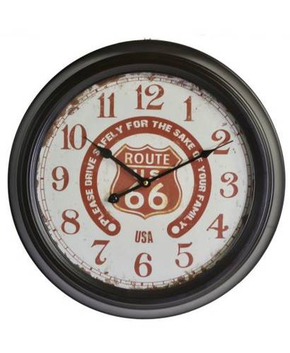 Orologio metallo nero Route 66 scritte rosse