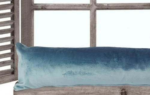 Paraspifferi velluto azzurro 120cm