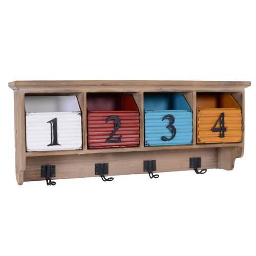Pensile 4 cassetti ferro colorato