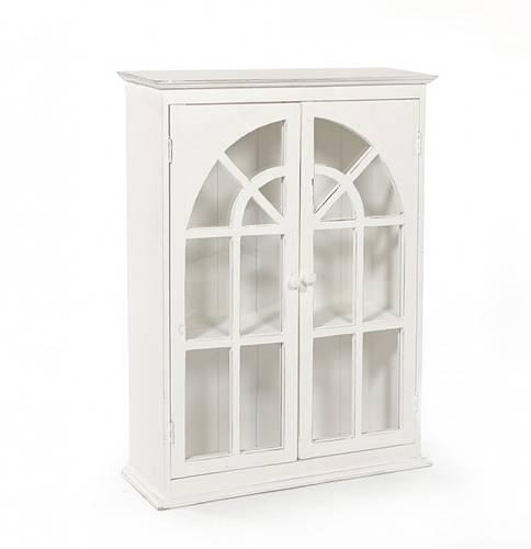 Pensile legno bianco 2 ante finestrate