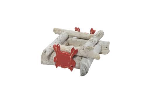 Portacandele legno marino con granchio