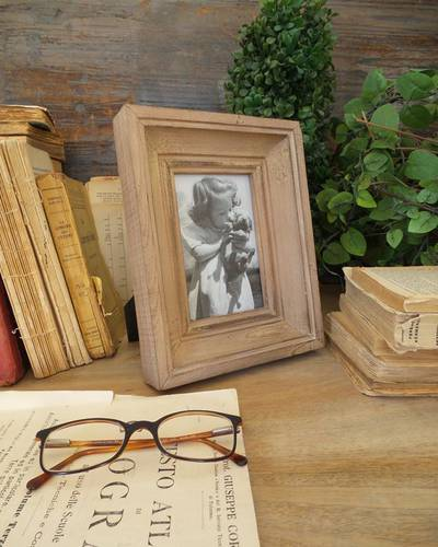 Portafoto legno naturale 3d