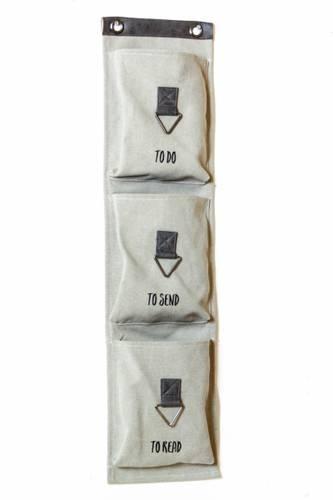 Portaoggetti canvas 3 tasche verticale