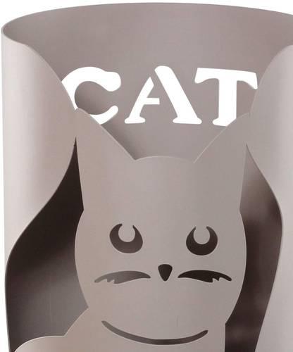 Portaombrelli gatto metallo tortora tondo