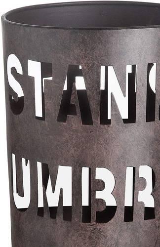 Portaombrelli metallo marrone tondo scritte Umbrella