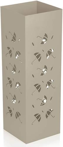 Portaombrelli metallo tortora quadrato intaglio ombrelli