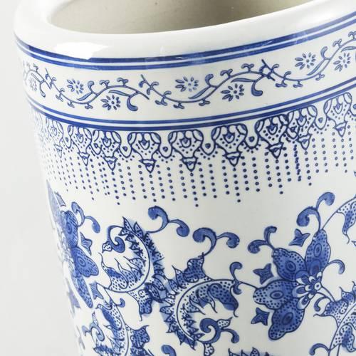 Portaombrelli porcellana fiori blu