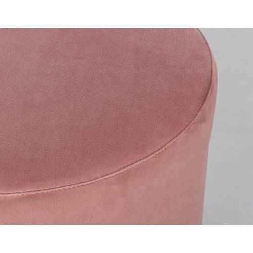 Pouf cilindro velluto rosa fascia oro 40h