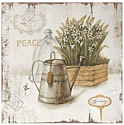 Quadro dipinto fiori bianchi Peace 40x40