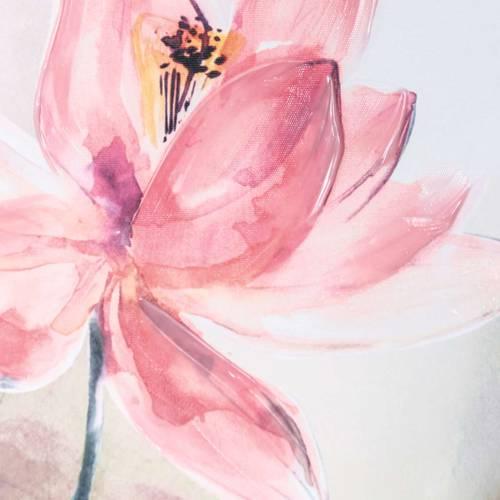 Quadro dipinto fiori di loto rosa 90x120
