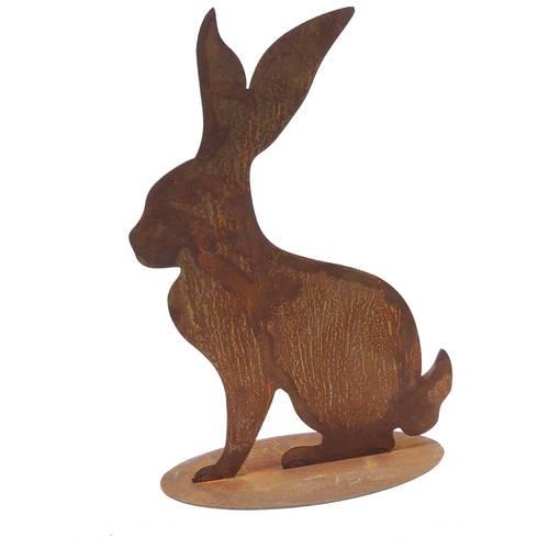 Sagoma coniglio ferro ruggine da giardino