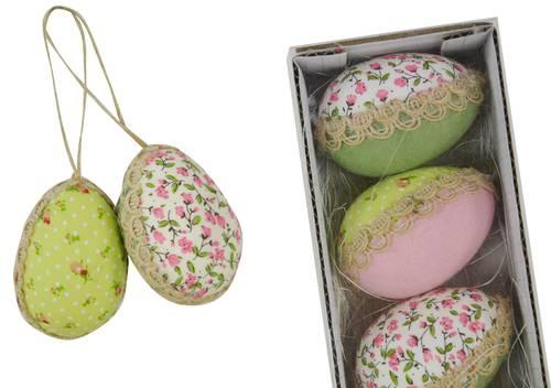 Scatola 4 uova in tessuto colorato