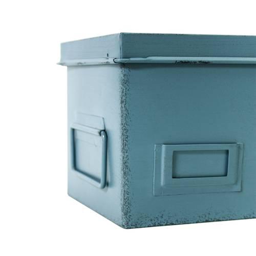 Scatola Cargo metallo rettangolare colorata