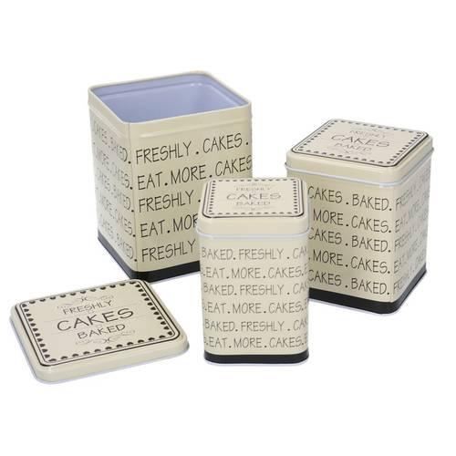 Scatola latta the scritte Cakes quadrata