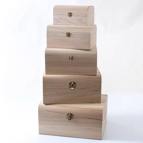 Scatola legno grezzo a bauletto
