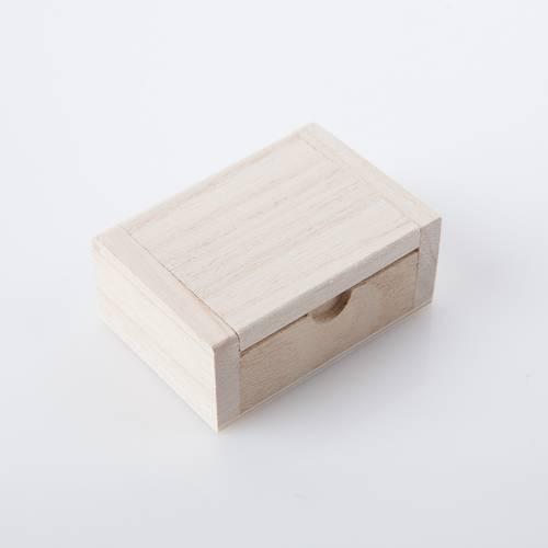 Scatolina mini legno grezzo 7,5x5x3