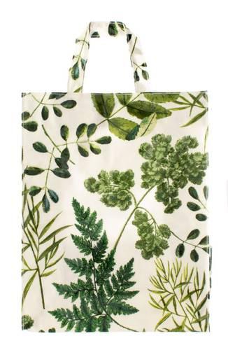 Shopping bag Foglie verdi pvc large