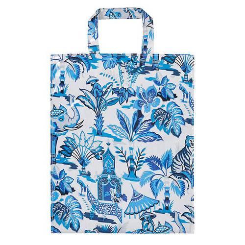 Shopping bag Indian blue pvc large Ulster Weavers